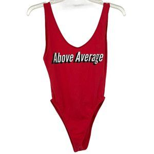 Above Average red one piece small bathing suit